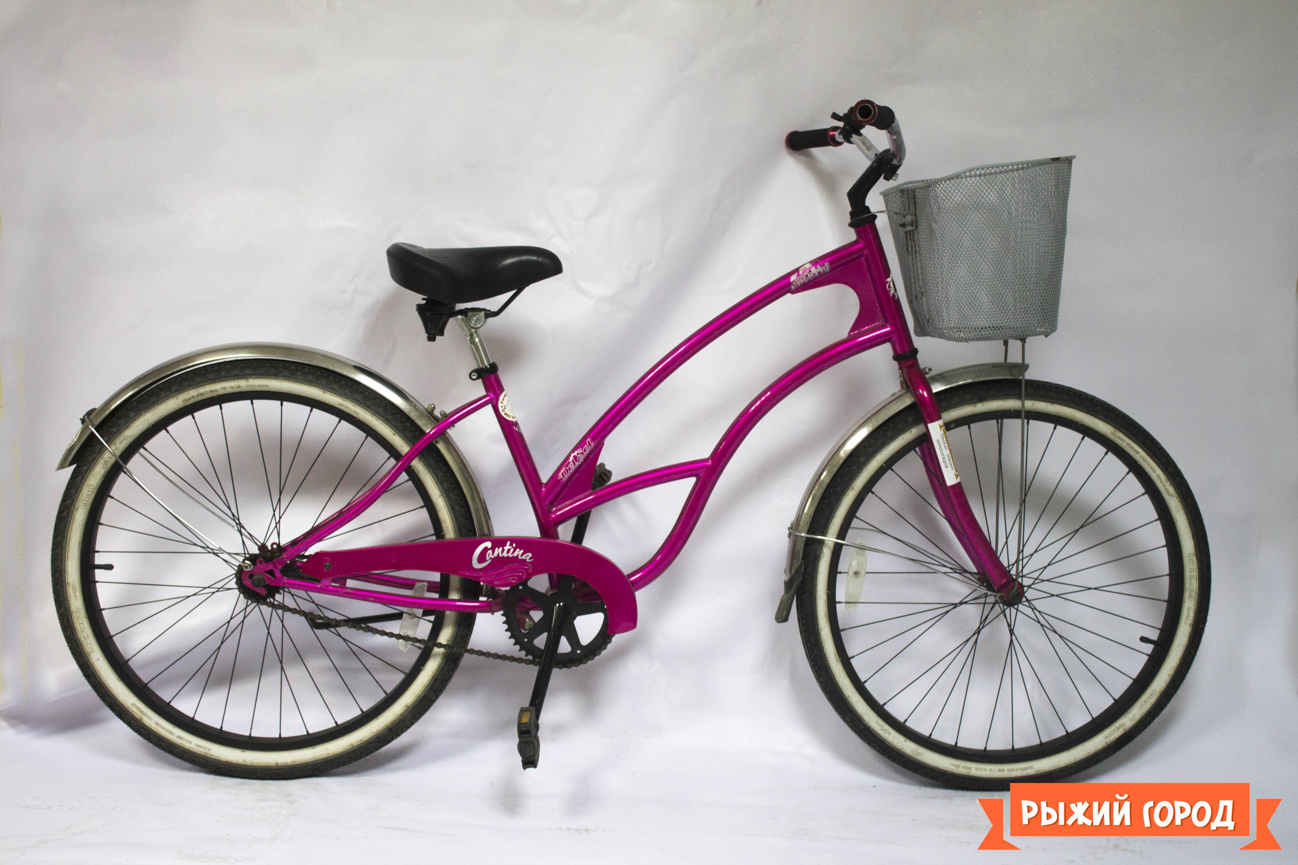 розовый велосипед 012